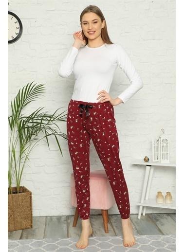 Akbeniz Pijama altı Bordo